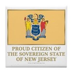 New Jersey Proud Citizen Tile Coaster