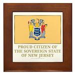 New Jersey Proud Citizen Framed Tile