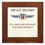 U.S. Military Framed Tile