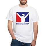 Iracing Mens Classic White T-Shirts