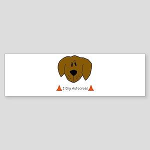 I Dig Autocross Bumper Sticker