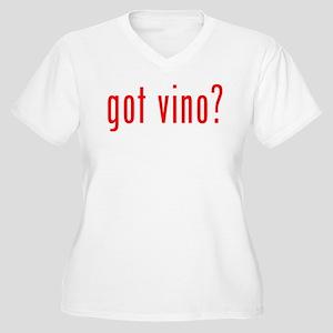 got vino? Women's Plus Size V-Neck T-Shirt