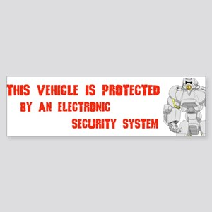 This Vehicle Protected Bumper Sticker