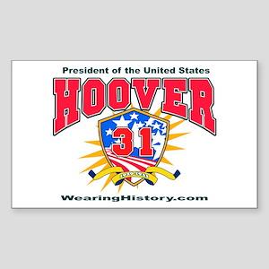 Herbert Hoover Rectangle Sticker