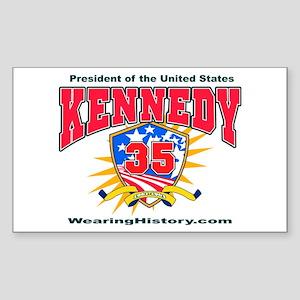 John F Kennedy Rectangle Sticker