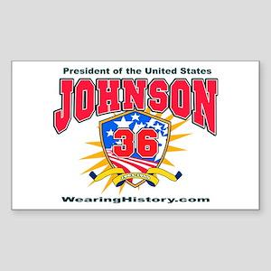 Lyndon B Johnson Rectangle Sticker