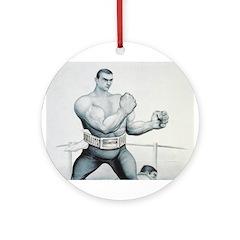 TOP Boxing Slogan Ornament (Round)