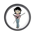 Tina in Blue Jeans Wall Clock