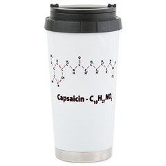 Capsaicin Molecule Stainless Steel Travel Mug