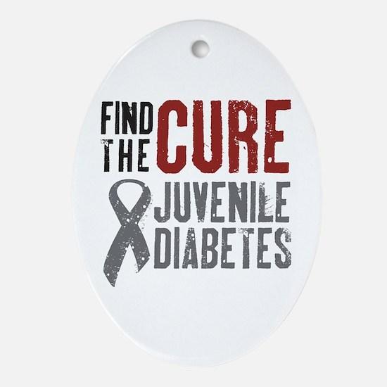 Juvenile Diabetes Oval Ornament