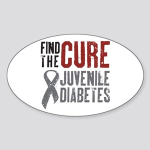 Juvenile Diabetes Oval Sticker