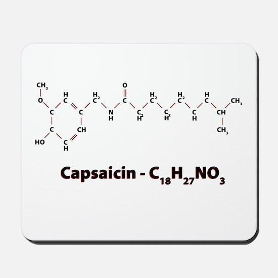 Capsaicin Molecule Mousepad