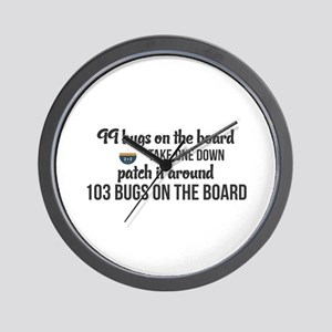 99 bugs on the board take one down patc Wall Clock