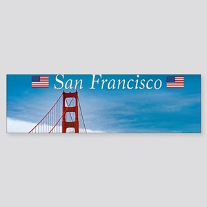 Stunning! Golden Gate Bridge San Fr Bumper Sticker