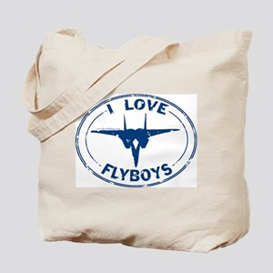 I Love Flyboys -navy Tote Bag