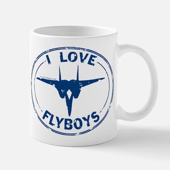 I Love Flyboys -navy Mug