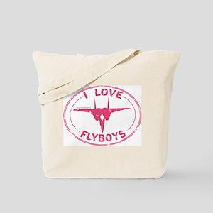 I Love Flyboys -pink Tote Bag