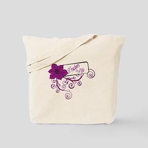 Trucker's Wife Purple Flower Tote Bag