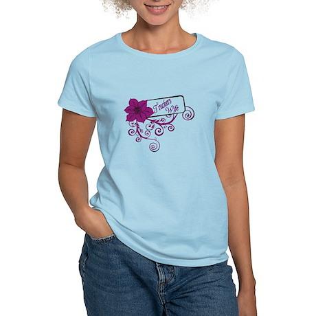 Trucker's Wife Purple Flower Women's Light T-Shirt