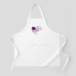 Trucker's Wife Purple Flower BBQ Apron