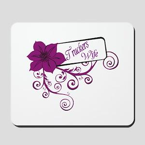 Trucker's Wife Purple Flower Mousepad