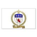 PATE Family Crest Rectangle Sticker 50 pk)
