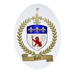PATE Family Crest Oval Ornament