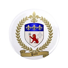 """PATE Family Crest 3.5"""" Button (100 pack)"""