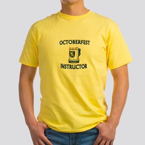 BEER DRINKING INSTRUCTOR Yellow T-Shirt