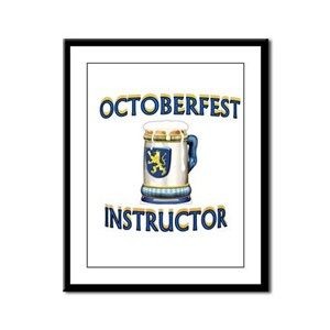 BEER DRINKING INSTRUCTOR Framed Panel Print