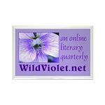 Wild Violet Rectangle Magnet