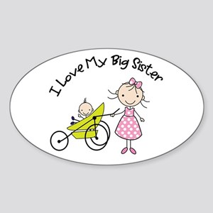 little brother big sister matching shirts Sticker