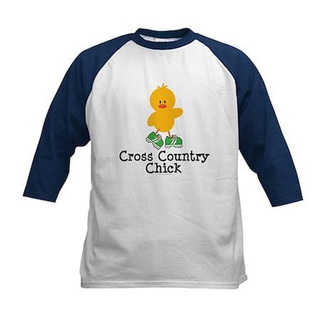 Cross Country Chick Kids Baseball Jersey