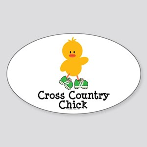 Cross Country Chick Oval Sticker
