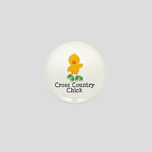 Cross Country Chick Mini Button
