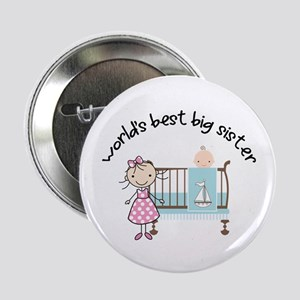 """big sister little sister matching 2.25"""" Button"""