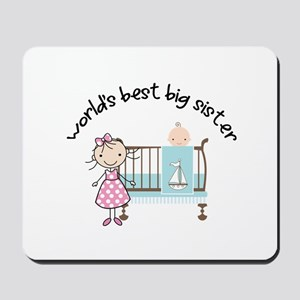 big sister little sister matching Mousepad