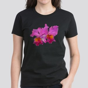 Pink Cattleya Women's Dark T-Shirt