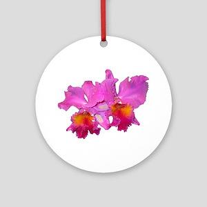 Pink Cattleya Ornament (Round)