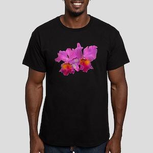 Pink Cattleya Men's Fitted T-Shirt (dark)