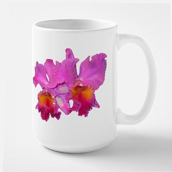 Pink Cattleya Large Mug