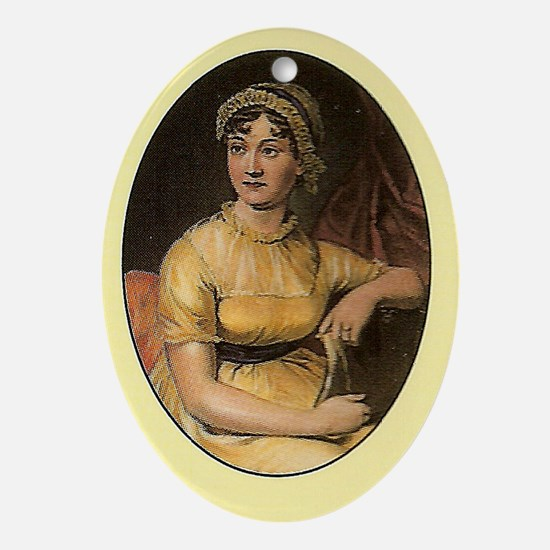 Jane Austen Portrait Oval Ornament