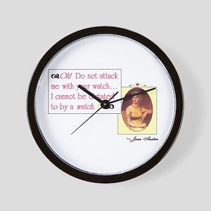 "Jane Austen's ""Watch"" quote Wall Clock"