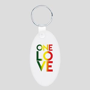One Love Rasta Reggae Rastafari Music Lo Keychains