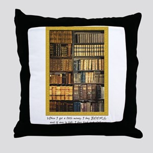 Erasmus Quote Throw Pillow