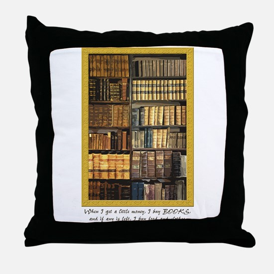 Erasmus Quote Throw Pillow