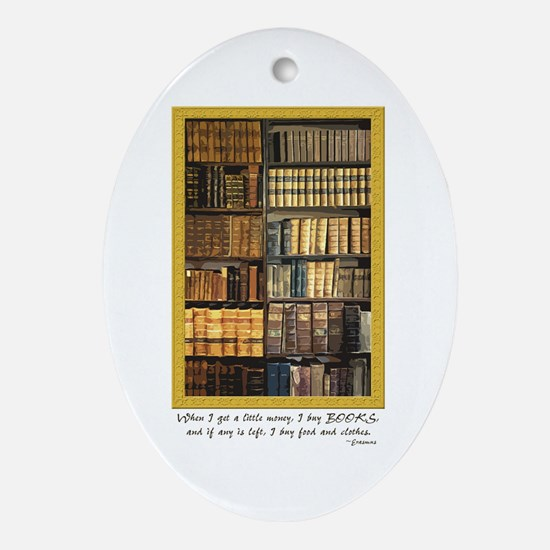 Erasmus Quote Oval Ornament