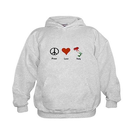 Peace, Love, Italy Kids Hoodie