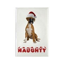 Naughty Boxer Rectangle Magnet