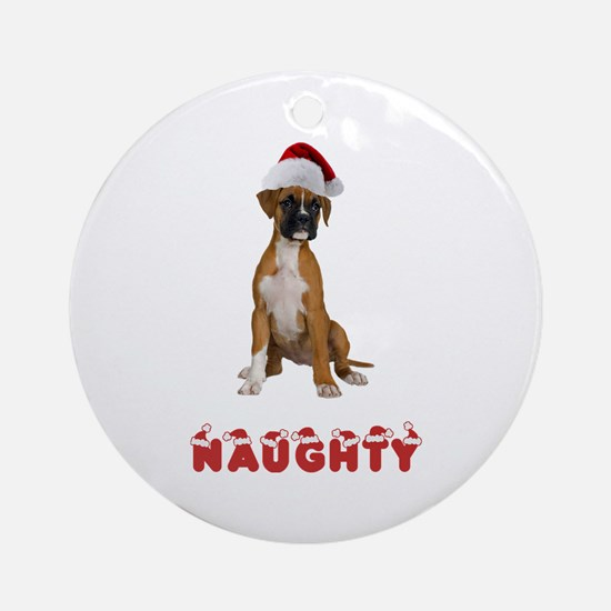 Naughty Boxer Ornament (Round)